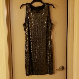 BNWT Bisou Bisou Gold and Black Sequin Dress
